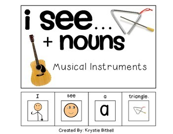 EASY READER I see...+ Noun Musical Instruments Edition Adapted Book Autism