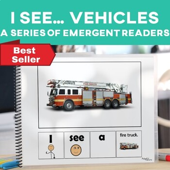 EASY READER I see...+ Noun Transportation Vehicles Edition Adapted Book Autism