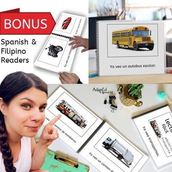 EASY READER Transportation Vehicles 3 Adapted Books