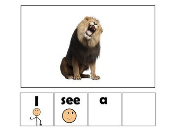 EASY READER I see...Safari Animal Edition Adapted Book  Autism