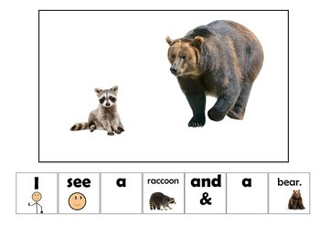 EASY READER I see...Wild Animal Edition Adapted Book Special Education Autism