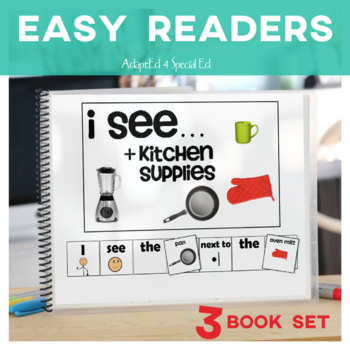 EASY READER It is a..Kitchen Supplies Edition Adapted Book  Autism