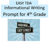 EASY Text Dependent Analysis Writing Prompt (TDA) 4th Grad