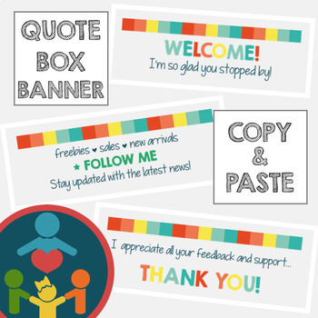 EASY TpT Quote Box Banner | Animated GIF : Spring Colors
