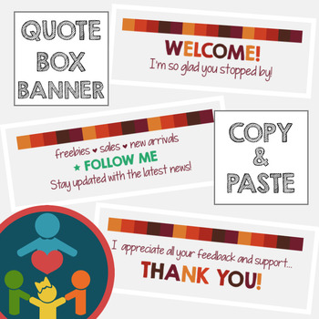 EASY TpT Quote Box Banner | Animated GIF : Fall Colors