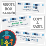EASY TpT Quote Box Banner | Animated GIF : Winter Colors