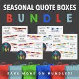 EASY TpT Quote Box Banner Bundle | Animated GIF : Seasonal