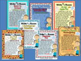 BUNDLE of EASY Write the Room - LETTERS - 7 FALL themes
