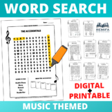 EASY and LARGE Print Music Word Search 8 Pack - Distance l