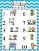 Station Rotation charts for centers! Easy & INDEPENDENT! Chevron 5 days