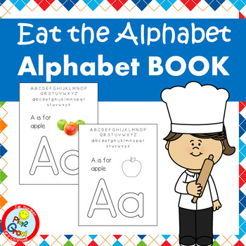 EAT THE ALPHABET LETTERS BINDER BOOK