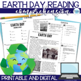 Earth Day Reading Comprehension Passage - Assessment and Foldable