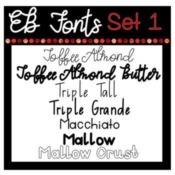 EB Fonts- Set One: The Coffee Collection