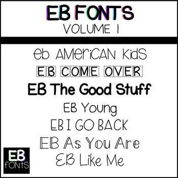 EB Fonts Volume 1
