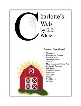 EB White's Charlottes Web Worksheets Common Core Aligned
