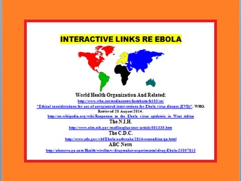 EBOLA FACTS LEARNING PACK {Reading, Interactive, CCSS)