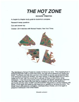 EBOLA VIRUS read The Hot Zone by R. Preston - study guide, quiz
