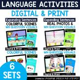 No Print 6 Fun Language Activities for iPad Tablet Computer Teletherapy Bundle