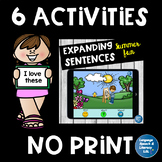 No Print 6 Fun Language Activities for iPad Tablet Computer Teletherapy Bundle