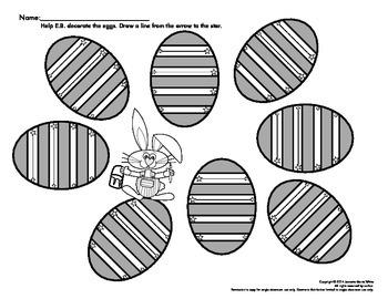 EB's Easter Egg Decorating - Fine Motor Skill Fun - Straight & Slanted Lines