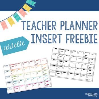 EC Teacher Planner Insert