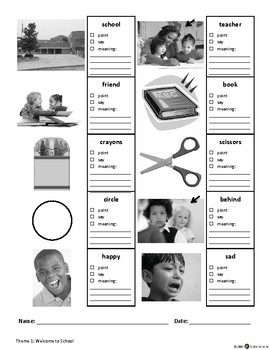 ECE-PreK Vocabulary & Oral Language Benchmark Assessment 1