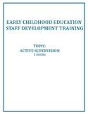 ECE Professional Development: Active Supervision