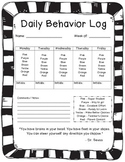 ECED Daily Behavior Log