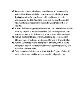 ECERS-3 Room Materials List