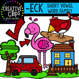 ECK Short E Word Family {Creative Clips Digital Clipart}
