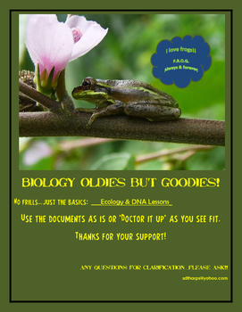 ECOLOGY AND DNA LESSONS