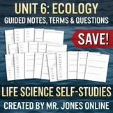 ECOLOGY: Guided Notes / Self Study UNIT BUNDLE