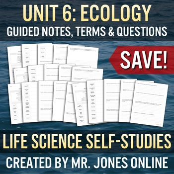 ECOLOGY: Guided Notes / Self Study UNIT BUNDLE