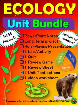 ECOLOGY Unit Bundle: NGSS Aligned