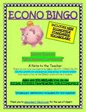 ECONO BINGO (Elementary Economics Vocabulary)