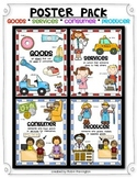 ECONOMICS Poster Pack: Social Studies {Goods/Services & Consumer/Producer}