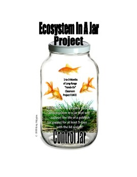 ECOSYSTEM IN-A-JAR PROJECT . . . SALE . . . $8.50  AN EXCELLENT PROJECT