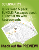 ECOSYSTEMS Quick Read 5 Pack: SCIENCE and READING comprehe