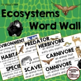 ECOSYSTEMS WORD WALL - From the TC Collection
