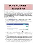 ECPE HONORS Unit 1 Example Quizlet Set