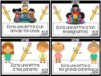 ÉCRITURE - French Writing Prompts