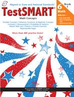 TestSMART Student Practice Book, Math Concepts, Grade 6