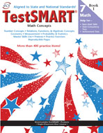 TestSMART Student Practice Book, Math Concepts, Grade 7