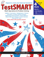 TestSMART Student Practice Book, Math Operations and Problem Solving, Grade 4