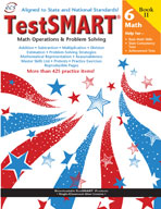 TestSMART Student Practice Book, Math Operations and Problem Solving, Grade 6