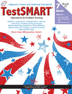 TestSMART Student Practice Book, Math Operations and Problem Solving, Grade 7