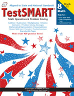 TestSMART Student Practice Book, Math Operations and Problem Solving, Grade 8
