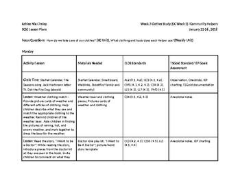 ECSE Lesson Plans Clothes Study (Week 3)/Community Helpers