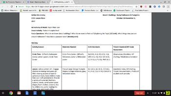 ECSE Lesson Plans - Creative Curriculum Buildings Study (Week 1)/Halloween