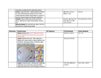 ECSE Lesson Plans: Theme 3 Colors